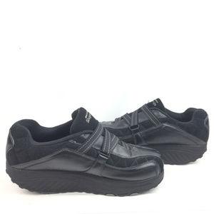 Black Sketchers Shape Ups Sneakers Velcro Size 10